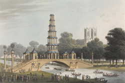The Chinese Bridge and Pagoda